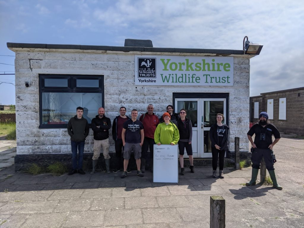 A group shot of the University of Hull and Yorkshire Wildlife Trust team who are working on the Oyster project